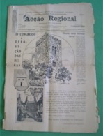 Castelo Branco - Jornal Acção Regional De Junho De 1929 - Congresso Das Beiras - Imprensa - Algemene Informatie