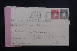 IRLANDE - Enveloppe De Corcaigh Pour La Belgique En 1939 Avec Contrôle Postal - L 43424 - 1937-1949 Éire