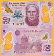 Mexico 50 Pesos P-123A 2016 (Serie V) UNC Polymer Banknote - Messico