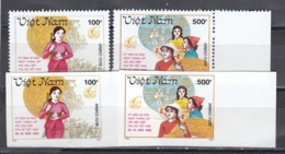 Vietnam 1990 - 60e Ann. De L'Union Nationale Des Femmes, Mi-Nr. 2271/72, Dent.+non Dent., MNH** - Vietnam