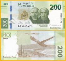 Mexico 200 Pesos P-new 2019 Commemorative New Signature Variety 1 UNC Banknote - Messico
