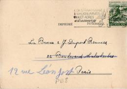 PB08 Pays-Bas Lettre De Labouchere & Co Du 21-08-1950 Avec Flamme, Cachet Poste. Postée à Birmingham En Pays-Bas - Poststempel