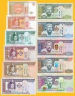 Mongolia Set 1 - 20000 Tögrög 2009 - 2018 UNC Banknotes - Mongolia