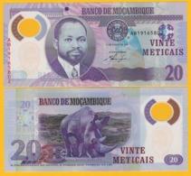 Mozambique 20 Meticais P-149a 2011 UNC Polymer Banknote - Mozambique