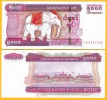 Myanmar 5000 Kyats P-83 2014 UNC Banknote - Myanmar
