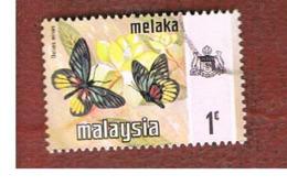 MALESIA: MALACCA (MALAYSIA) -  SG 70 -  1971   BUTTERFLIES: DELIAS NINUS        - USED ° - Malesia (1964-...)