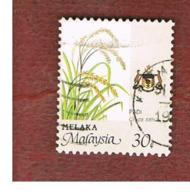 MALESIA: MALACCA (MALAYSIA) -  SG 102 -  1986   RICE       - USED ° - Malesia (1964-...)