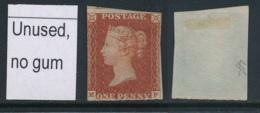GB, 1841 1d Imperf Red-brown Unused No Gum, SG8, Cat £600 - 1840-1901 (Victoria)