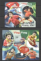 TG1063 2011 TOGO TOGOLAISE SPORT TABLE TENNIS PING PONG WANG HAO 1KB+1BL MNH - Table Tennis