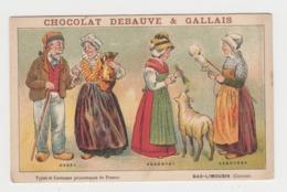 BB1008 - CHROMO CHOCOLAT DEBAUVE & GALLAIS - Types Et Costumes Pittoresques De France - Bas Limousin (Corrèze) - Chocolat