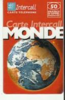 Intercall      Carte  Intercall Monde - Cartes De Crédit (expiration Min. 10 Ans)
