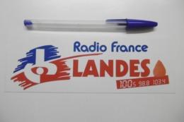 Autocollant Stickers Médias RADIO FRANCE LANDES 100.5 - Autocollants
