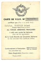 Carte De V.S.V (Vol Sans Visibilité Avec Cachets Des CEV De Villacoublay Et Brétigny - Aviation