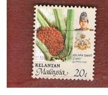 MALESIA: KELANTAN (MALAYSIA) -  SG 145 -  1986   OIL PALMA       - USED ° - Malesia (1964-...)