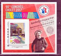 France BF 13 FFAP 90 ème Congrès De Cholet 2017 Neufs ** LUXE MNH Sin Charnela - FFAP