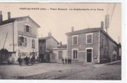 Ain - Pont-de-Vaux - Place Renaud - La Gendarmerie Et La Poste - Pont-de-Vaux