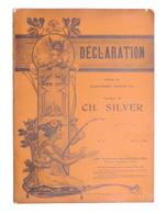 Spartito - Ch. Silver - Declaration - The Gramophone Company N. 11 - Ed. 1904 - Vecchi Documenti