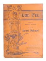 Spartito - H. Rabaud - Une Fée - The Gramophone Company N. 12 - Ed. 1904 - Vecchi Documenti