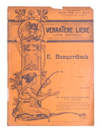 Spartito - Humperdinck - Verratene Liebe - The Gramophone Company N. 18 Ed. 1904 - Oude Documenten