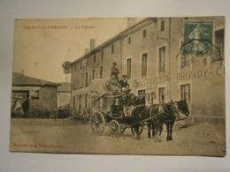 Vernet La Varenne Le Courrier,Puy De Dôme 63,voyagée Année 1908,très Bel état,très Rare - Francia