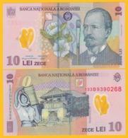 Romania 10 Lei P-119 2013 UNC Polymer Banknote - Rumania