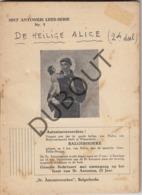 SCHAARBEEK - De Heilige Alice Deel 1 + Deel 2 - De Meyer, 1946  (R281) - Vecchi