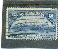 1933 CANADA Y & T N° 168 ( O ) - Gebruikt