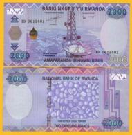 Rwanda 2000 Francs P-40 2014 UNC Banknote - Rwanda