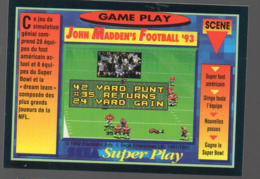 Carte PANINI  GAME PLAY  N°99  John Madden's Football 93 (PPP20592) - Trading Cards
