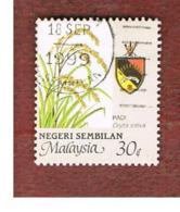 MALESIA: NEGRI SEMBILAN (MALAYSIA) -  SG 123 -  1986   RICE      - USED ° - Malesia (1964-...)