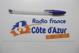 Autocollant Stickers Médias RADIO FRANCE CÔTE D'AZUR 101.4 - Autocollants