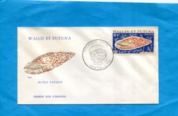 Wallis Et Futuna-enveloppe Illustrée-F D C  1e Oct 1976-coquillage Stamps N°195 Mitra Papalis Cote 6.5 - Covers & Documents