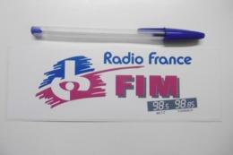 Autocollant Stickers Médias RADIO FRANCE FIM METZ 98.5 - FORBACH 98.85 - Autocollants