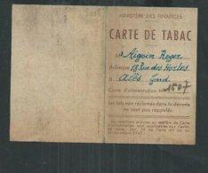 Gard: Carte De Tabac Faite à Alès - Dokumente