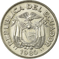 Monnaie, Équateur, Sucre, Un, 1980, TTB, Nickel Clad Steel, KM:78b - Equateur