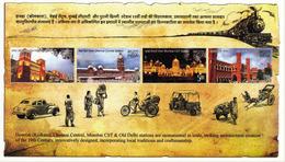 5X INDIA 2009 Heritage Railway Stations; Miniature Sheet, MINT - India