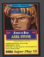 Carte PANINI  SEGA HEROS N° 120 Axel Stone  (PPP20599) - Trading Cards