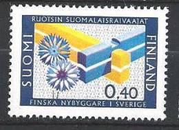 Finlande 1967 N°597 Communauté Finnoise En Suède - Ungebraucht