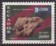 Roches Et Minéraux - EQUATEUR - Pyrite - N° 1398 * - 1997 - Ecuador
