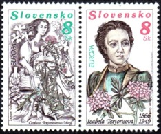 CEPT / Europa 1996 Slovaquie N° 211 Et 212 ** Les Femmes Célèbres - Europa-CEPT