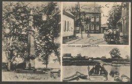 Gruss Aus Erfelden (heute Ein Stadtteil Von Riedstadt). Ansichtskarte 1914 Mit U.a. Schwedensäule - Riedstadt