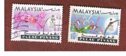 MALESIA: PENANG (MALAYSIA) -  SG 69.70 -  1965   FLOWERS      - USED ° - Malesia (1964-...)