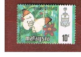 MALESIA: PENANG (MALAYSIA) -  SG 79  -  1971  BUTTERFLIES: GREAT ORANGE    - USED ° - Malesia (1964-...)