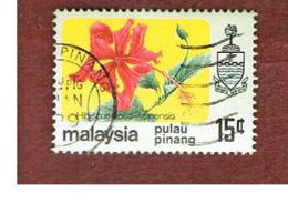 MALESIA: PENANG (MALAYSIA) -  SG 90  -  1979  FLOWERS: HIBISCUS  ROSA-SINENSIS   - USED ° - Malesia (1964-...)