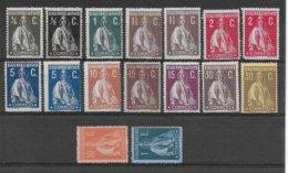 PORTUGAL - SERIE INCOMPLETE CERES 1912/1917 - YVERT N° 206/221 * MH (LA PLUPART PAPIER COUCHE) - COTE IMPORTANTE !! - 1910-... République