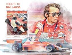 Sierra Leone. 2019 70th Anniversary Of Niki Lauda. (0807b)  OFFICIAL ISSUE - Cars
