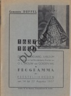 DUFFEL OLV Van Goede Wil 1937 - 300-jarig Jubileum  (R269) - Vecchi