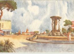 CATTOLICA (RIMINI) PIAZZALE KURSAL E FONTANA MONUMENTALE DISEGNATA DA GINO FRATTINI -FG - Rimini