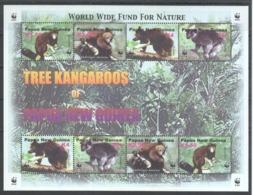 A643 PAPUA NEW GUINEA WWF FAUNA ANIMALS TREE KANGAROOS 1KB MNH - W.W.F.