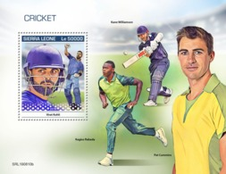 Sierra Leone. 2019 Cricket. (0810b)  OFFICIAL ISSUE - Cricket